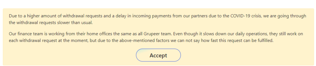 grupeer message alert